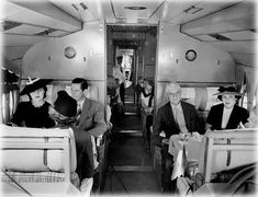 Pan Am First Class Cabin. Back then, bottles of Caswell-Massey cologne were allowed in their carry-on bags.