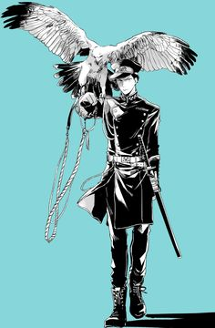 式典のパレードに駆り出される士官岩ちゃん 全身バージョンもある 日本刀と軍服って掛け合わせに弱い…
