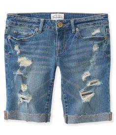 NEW! Destroyed Denim Bermuda Shorts - Aeropostale... Finally found cute, modest shorts!!