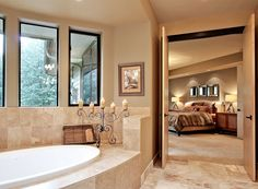 Nice view of the master suite from the master bathroom