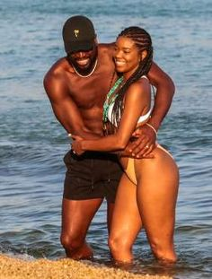 Gabrielle Union and husband Dwyane Wade pack on the PDA as they enjoy a day at the beach in Mykonos,. Pretty Black Girls, Black Love, Black Is Beautiful, Beautiful People, Black Couples, Cute Couples, Ebony Models, Meagan Good, Gabrielle Union