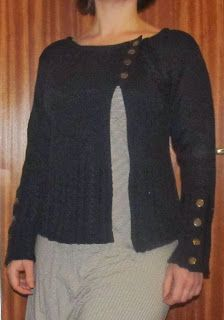 Refashion Co-op: Turtleneck sweater to asymmetric cardigan with cool details