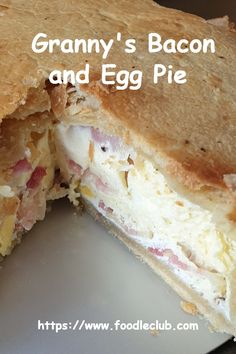Old fashioned bacon and egg pie. A light as a feather shortcrust pastry, packed full of tasty bacon and whole eggs, baked in a creamy egg custard filling. Egg And Bacon Pie, Egg Pie, Homemade Pastries, Homemade Pie, Egg Recipes, Cooking Recipes, Chef Recipes, Chicken Recipes