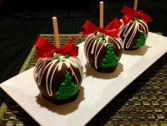 Manzana con chocolate