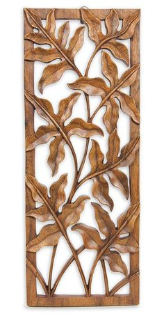 Wood wall panel, 'Forest Shrubs'