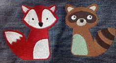 Waschbär und Fuchs