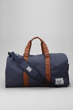 i like this bag for two reasons .. it is pretty and has the name of one of my favorite walking dead characters!! Perfect duffle-style weekend bag from Herschel Supply Co. #urbanoutfitters