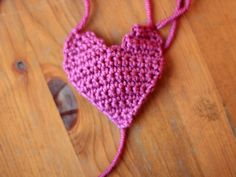 Three ways with a crochet heart – Free pattern @ What You Sow