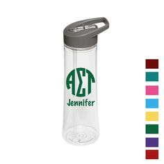 Now available Alpha Sigma Tau W... Shop http://manddsororitygifts.com/products/alpha-sigma-tau-water-bottle-mono-pers?utm_campaign=social_autopilot&utm_source=pin&utm_medium=pin