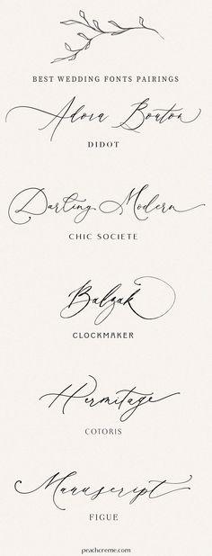 Calligraphy Fonts, Typography Fonts, Typography Design, Wedding Typography, Modern Calligraphy, Wedding Invitation Fonts, Wedding Fonts Free, Handwriting Fonts, Cursive Fonts