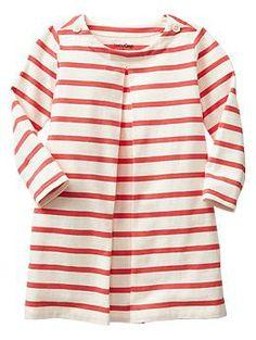 Pleated stripe dress   Gap