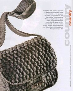 bobble shoulder bag...patterns are available in pdf format for download
