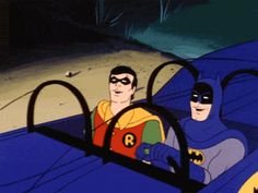 Even Batman & Robin know Friday is a good thing! Batman Robin, Batman Gif, I Am Batman, Funny Batman, Batman Humor, Batman Music, Robin Superhero, Batman Cartoon, Chistes