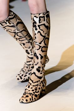 Need to Know - Gucci Fall 2014 Leopard Boots