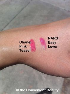 The Convenient Beauty: Wearable bright pink lips - Nars Easy Lover & Chanel Pink Teaser