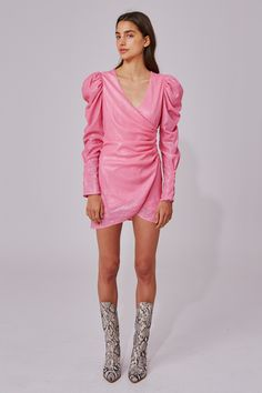 AS IT GOES LONG SLEEVE DRESS - $215 #theradicalblog #winteroutfits #cmeocollective Mini Dress With Sleeves, Pink Sequin, Kpop Fashion, Dress Collection, Pink Dress, Dress Outfits, Sequins, Style Inspiration, Long Sleeve