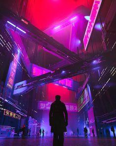 Max Radar by Mike Winkelmann (Beeple) : ImaginaryCyberpunk – Cyberpunk Gallery Cyberpunk City, Arte Cyberpunk, Cyberpunk Aesthetic, City Aesthetic, Purple Aesthetic, Cyberpunk 2077, Futuristic City, Cyberpunk Fashion, City Painting