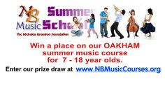 We're booking for the NB Music Course in Oakham.  There is a free prize draw to win a place worth £215.  http://www.nbmusiccourses.org