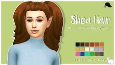 Shea Hair by Miss Bunny Gummy Sims 4 Cc Skin, Sims 4 Mm Cc, The Sims, Miss Bunny, Sims 4 Characters, Long Ponytails, Sims Hair, Sims 4 Cc Finds, Sims Mods