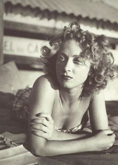 killerbeesting:  Jacques-Henri Lartigue - Danielle Darrieux, Eden Roc, 1941