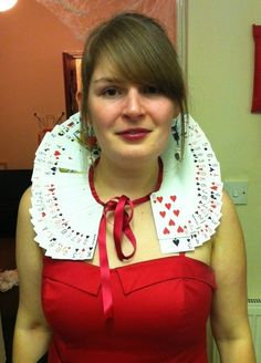 Queen of Hearts costume -- Plus black dress, a varita with a heard on the end, plus draw heart on lips