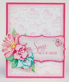 Sweet and Adorable card created using our Little Bo Peep Collection. #cratepaper