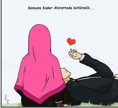 kumpulan kartun romantis parf 2 - my ely Cute Muslim Couples, Muslim Girls, Romantic Couples, Cute Couples, Cute Couple Cartoon, Cute Couple Art, Cartoon Pics, Islamic Quotes On Marriage, Islam Marriage