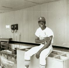 St. Louis Cardinals Outfielder Lou Brock, 29 July 1969. Photograph by Irving Williamson, 1969. Missouri History Museum Photograph and Prints Collections. Irving A. Williamson Collection
