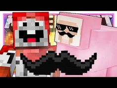 BUILDING MUSTACHES! | Minecraft | ExplodingTNT vs Pink Sheep - YouTube Pink Sheep, Doge, Mustache, Vs Pink, Youtubers, Minecraft, Building, Adventure, Moustache