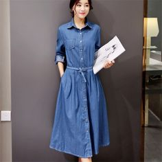 Fashion Casual Single Breasted Slim Long Elegant Office Party Dresses