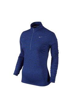 ca1e4e31600 Amazon.com  Nike Dri-FIT Element Stripe 1 2 Zip  Clothing