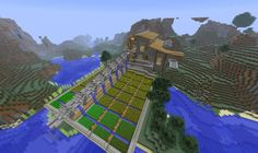 Aqueduct I like this guy's Minecraft tutorials. Here's one on building functional aqueducts. Minecraft Farmen, Minecraft Construction, Minecraft Survival, Minecraft Tutorial, Minecraft Blueprints, How To Play Minecraft, Minecraft Designs, Minecraft Crafts, Minecraft Farm House