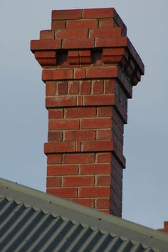 Simple but effective detailed chimney stack using some non-standard bricks