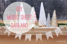 DIY Music Sheet Garland: Guest Post by Rachel from Like a Saturday by Persia Lou