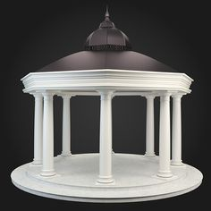 Gazebo 030 ...  3d, Llandscape, architecture, building, classicism, classics, decoration, design, exterior, garden, gazebo, greek, interior, model, outdoors, park, render, roman, street element, v-ray