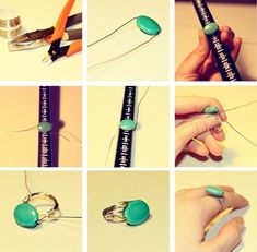 Wire wrapped rings tutorial by Jill Madigan King
