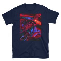 Alien vs Darth Vader Short-Sleeve Unisex T-Shirt Nerdy Shirts, Alien Vs, Shoulder Taping, Short Sleeves, Darth Vader, Comfy, Unisex, Awesome, Mens Tops