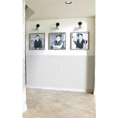 "Novogratz True Shiplap 7.44"" x 46.5"" Peel and Stick Vinyl Wall Paneling & Reviews   Wayfair Stick On Wood Wall, Peel And Stick Wood, Vinyl Wall Panels, Pvc Panels, White Shiplap Wall, Pony Wall, Focal Wall, Wall Stickers Home Decor, Ship Lap Walls"
