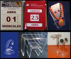 calendarios perpetuos , exhibidores de collar, reloj , calzado y lentes.
