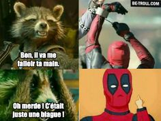 Bon, il va me falloir ta main - #deadpool #marvel #humour
