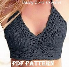Traje de baño modelo Bikini brasileño Crochet por SassyloveCrochet