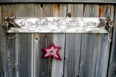 Rustic Christmas Stocking Holder