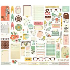 SIMPLE STORIES: CARPE DIEM The Reset Girl Bits & Pieces Package includes: (67) die-cut pieces with foil accents.