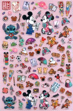 disney japan sticker sheet