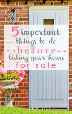 5 Important Things to Do Before Listing Your House For Sale - L Bee and the Money Tree  www.Homematchnw.us  #sellmyhouse