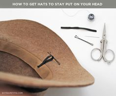 how to keep a hat on.