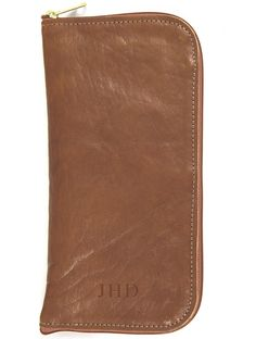 Jon Hart Design JH Travel Wallet Shown in Cognac Leather