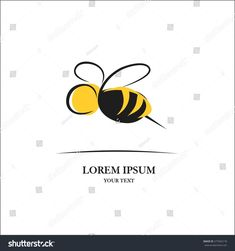 Bee sign for logo