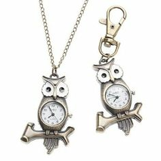 Tanboo Unisex Owl Style Alloy Analog Quartz Keychain Necklace Watch (Bronze) by Tanboo. $8.99. Casual Watches. Necklace Watches, Keychain Watches. Children's, Women's, Men's Watche. Gender:Children's, Women's, Men'sMovement:QuartzDisplay:AnalogStyle:Necklace Watches, Keychain WatchesType:Casual WatchesBand Material:AlloyBand Color:BronzeCase Diameter Approx (cm):3.4Case Thickness Approx (cm):0.7Band Length Approx (cm):10cm,45.5cmBand Width Approx (cm):1.3cm,0.2cm