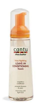 Cantu Shea Butter Frizz Fighting Leave-In Conditioning Foam 8.4 fl oz